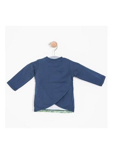 Soobe Soobe Newborn Tişört Kız Bebek Giyim İndigo